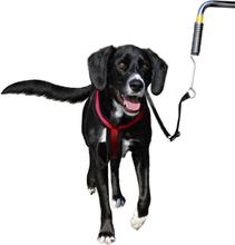 TRIXIE Cykelspringer med koppel för hund silver och svart 1287
