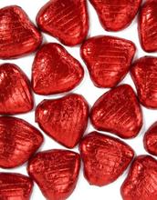 20 stk Røde Sjokoladehjerter