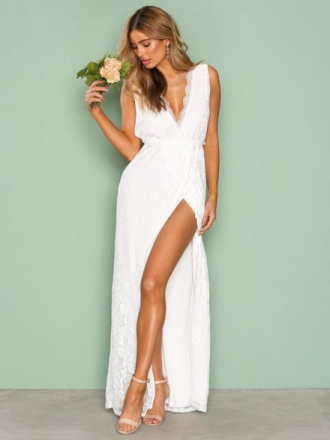NLY Eve Forever Lace Gown Maxiklänningar Vit