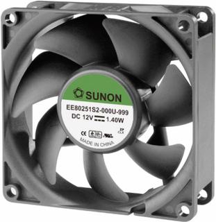 Sunon EE80251S2-0000-999 Aksial ventilator 12 V/DC 62.86 m³/h (L x B x H) 80 x 80 x 25 mm
