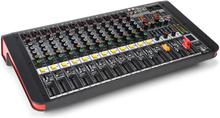 Power Dynamics PDM-M1204A 12 Mikrofoningångar 24-Bit Multi FX-Processor USB-spelare