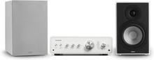 Drive 802 stereo-set stereo-förstärkare + högtalare vit / grå