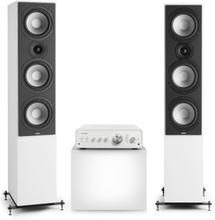 Drive 801 stereo-set stereo-förstärkare + högtalare vit / vit