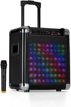 "Moving 80.2 LED PA-anläggning 8"" woofer max 100 W VHF-mikrofon USB SD BT AUX mobil"