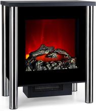 Copenhagen-Premium Elektrisk Kamin Big 950/1900W Termostat svart