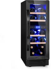 Vinovilla 17 Built-in Duo Onyx Edition två zoner-vinkylskåp 53l 17 flaskor 3-färger glasdörr