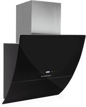 RGL60BL vertikal köksfläkt 60cm 600m³ glas timer svart