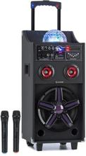 DisGo Box 100 mobil PA-anläggning 50W RMS BT SD-slot LEDs USB batteri svart