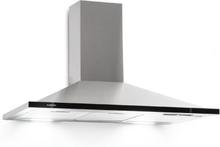 Galina 90 köksfläkt frånluft 90cm 350m³/h LED rostfritt stål akrylglas