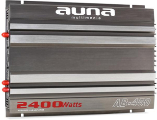 AB-450 4-kanals förstärkare bil 360W RMS 2400W max racing design