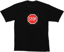 LED-t-shirt STOP storlek XL