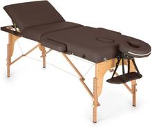 MT 500 Massagebänk 210 cm 200 kg Hopfällbar Småcells-Skumgummi Väska brun