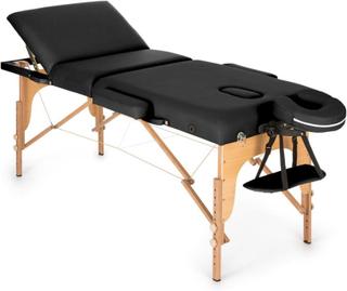 MT 500 Massagebänk 210 cm 200 kg Hopfällbar Småcells-Skumgummi Väska svart