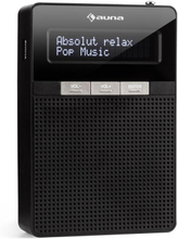 DigiPlug DAB stickkontakt-radio, DAB+, FM/PLL, BT, LCD-display, svart