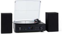 Connect Vinyl Smartradio skivspelare 2 högtalare max 20W internet/DAB+