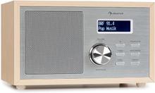 Ambient DAB+/FM radio BT 5.0 AUX-In LCDisplay väckare träoptik brun