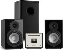 Unison Reference 802 Edition stereoanläggning förstärkare UniSub boxar svart