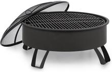 Oreos 2-i-1-eldskål Ø75cm gnistskydd Ø68cm grill stål svart