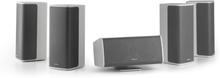 Ambience 5.0-högtalarsystem vitt inkl. 30m högtalarkabel