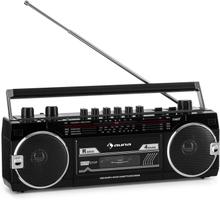 Duke MKII kassettbandspelare radio BT USB SD-slot teleskopantenn svart