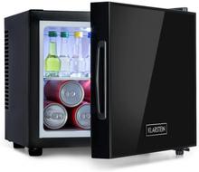 Frosty mini-kylskåp EEC A spegelglasdörr 10 liter svart