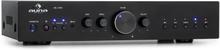 AV2-CD608BT HiFi-stereo-förstärkare 4x100W RMS BT Dig-Opt-In svart