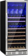 Vinovilla 116D rymligt-vinkylskåp 313l 116 flaskor rostfritt stål