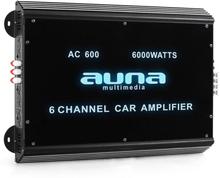 6-kanals bilförstärkare Auna car 6000W akryl