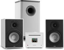 Unison Reference 802 Edition stereoanläggning förstärkare boxar vit / ljusgrå