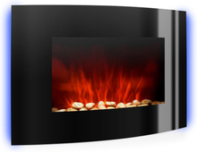 Lausanne elektrisk kamin 2000W LED-flammor fjärrkontroll