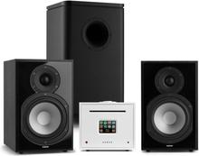 Unison Reference 802 Edition stereoanläggning förstärkare boxar svart/vit