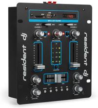 DJ-25 DJ-Mixer Mischpult Verstärker Bluetooth USB schwarz/blau