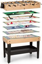 Game-Star Spelbord med 15 Spel Multigame Lagringsfack MDF