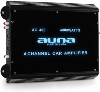4-kanalsslutsteg för bil Auna förstärkare 4000W acryl