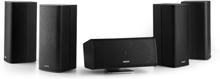 Ambience 5.0-högtalarsystem Svart inkl. 30m högtalarkabel