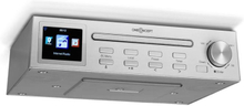 "Streamo Chef köksradio CD-player BT 2,4""HCC display silver"
