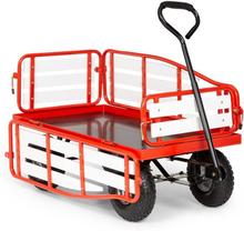 Ventura liten skrinda max. vikt 300 kg stål WPC röd