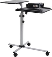 TS-2 beamer-bord 2 plan inställbar höjd tippbar hjul