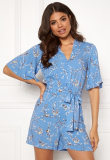Y.A.S Beala SS Playsuit Silver Lake Blue S