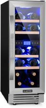 Vinovilla Duo17 Tvåzons-vinkylskåp 53l 17 Fl. 3-färgad Glasdörr