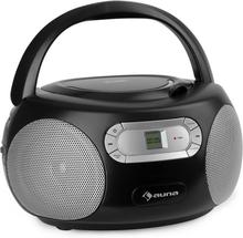 Haddaway CD Boombox CD-player Bluetooth FM AUX-IN LED-display svart
