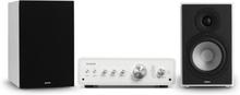 Drive 802 stereo-set stereo-förstärkare + högtalare vit / svart