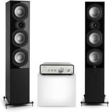 Drive 801 stereo-set stereo-förstärkare + högtalare svart/svart