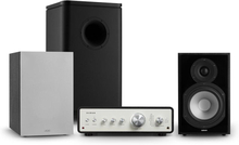 Drive 802 stereo-set förstärkare+ högtalare+subwoofer+cover svart/grå