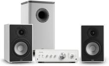 Drive 802 stereo-set förstärkare + hyllhögtalare + subwoofer BT5.0 vit