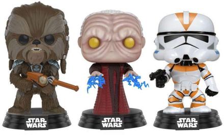 POP! Vinyl Star Wars - Tarfful, Emperor, Clone Trooper Exclusive