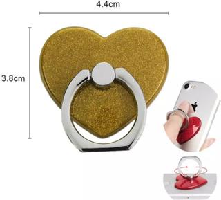Universal Mobilhållare Fingerhållare Ring Hjärta Guld Bordsställ