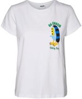 NOISY MAY Berto Fojo X Noisy May T-shirt Kvinder White