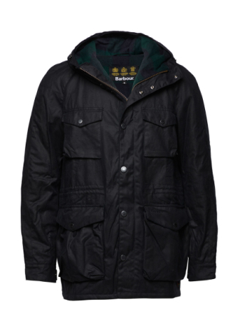 Barbour Coll Wax Jkt