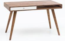 Retro skrivebord / laptopbord, 120 cm, 1 skuffe